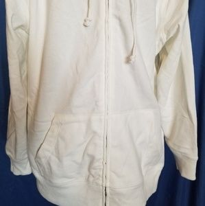 Old navy plus size white hoodie